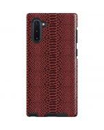 Marsala Snake Skin Galaxy Note 10 Pro Case