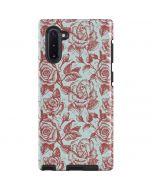 Marsala White Rose Galaxy Note 10 Pro Case