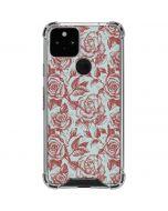 Marsala White Rose Google Pixel 5 Clear Case