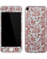 Marsala White Rose Apple iPod Skin
