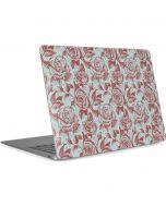 Marsala White Rose Apple MacBook Air Skin