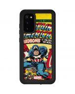 Marvel Comics Captain America Galaxy S20 Waterproof Case
