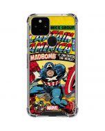 Marvel Comics Captain America Google Pixel 5 Clear Case