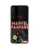 Marvel Comics Fanfare Moto G8 Plus Clear Case