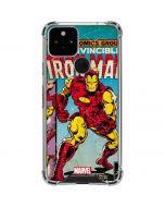 Marvel Comics Ironman Google Pixel 5 Clear Case