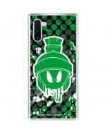 Marvin the Green Martian Galaxy Note 10 Clear Case