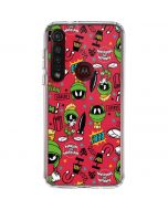 Marvin the Martian Patches Moto G8 Plus Clear Case
