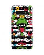 Marvin the Martian Striped Patches Galaxy S10 Plus Lite Case