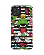 Marvin the Martian Striped Patches iPhone 11 Pro Max Impact Case