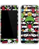 Marvin the Martian Striped Patches Apple iPod Skin