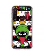 Marvin the Martian Striped Patches Moto G8 Plus Clear Case