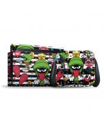 Marvin the Martian Striped Patches Nintendo Switch Bundle Skin