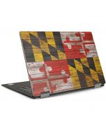Maryland Flag Dark Wood Dell XPS Skin