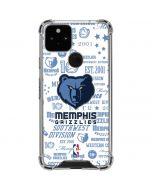 Memphis Grizzlies Historic Blast Google Pixel 5 Clear Case