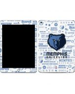 Memphis Grizzlies Historic Blast Apple iPad Skin