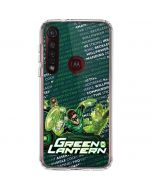 Metal Green Lantern Moto G8 Plus Clear Case