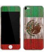 Mexican Flag Dark Wood Apple iPod Skin