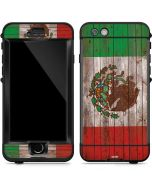 Mexican Flag Dark Wood LifeProof Nuud iPhone Skin