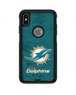Miami Dolphins Distressed- Aqua  Otterbox Commuter iPhone Skin