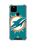 Miami Dolphins Large Logo Google Pixel 5 Clear Case
