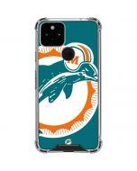 Miami Dolphins Retro Logo Google Pixel 5 Clear Case