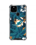 Miami Dolphins Tropical Print Google Pixel 5 Clear Case