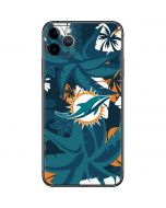 Miami Dolphins Tropical Print iPhone 11 Pro Max Skin