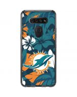 Miami Dolphins Tropical Print LG K51/Q51 Clear Case