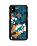 Miami Dolphins Tropical Print Otterbox Commuter iPhone Skin