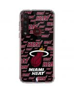 Miami Heat Blast Moto G8 Plus Clear Case