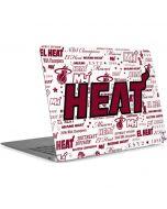 Miami Heat Historic Blast Apple MacBook Air Skin