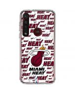 Miami Heat White Blast Moto G8 Plus Clear Case
