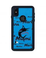 Miami Marlins Blast iPhone XS Waterproof Case
