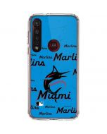 Miami Marlins Blast Moto G8 Plus Clear Case