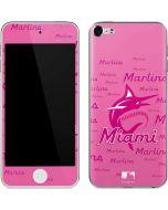 Miami Marlins Pink Blast Apple iPod Skin