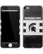 Michigan State University Black and White Stripes Apple iPod Skin