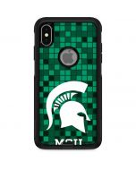 Michigan State Spartans Digital Pixels Otterbox Commuter iPhone Skin