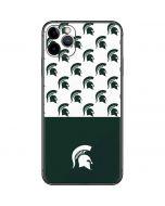 Michigan State University Spartans MSU Split iPhone 11 Pro Max Skin