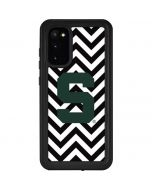 Michigan State University Spartans S Chevron Galaxy S20 Waterproof Case