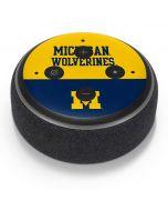 Michigan Wolverines Split Amazon Echo Dot Skin