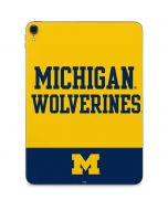Michigan Wolverines Split Apple iPad Pro Skin