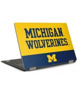 Michigan Wolverines Split Dell XPS Skin