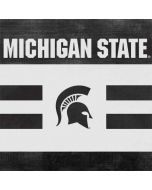 Michigan State University Black and White Stripes Amazon Echo Skin