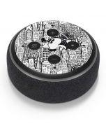 Mickey Mouse Cityscape Sketch Amazon Echo Dot Skin
