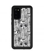 Mickey Mouse Cityscape Sketch Galaxy S20 Waterproof Case