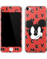 Mickey Mouse Grumpy Apple iPod Skin