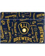 Milwaukee Brewers - Cap Logo Blast Galaxy Book Keyboard Folio 12in Skin