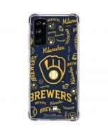 Milwaukee Brewers - Cap Logo Blast Galaxy S20 FE Clear Case