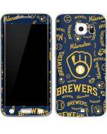 Milwaukee Brewers - Cap Logo Blast Galaxy S6 Edge Skin