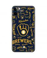 Milwaukee Brewers - Cap Logo Blast iPhone 11 Pro Max Skin